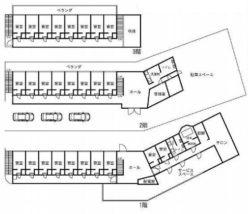 川崎市 貸し寮 一括貸し 一棟貸し 独身寮 神奈川県川崎市川崎区宮前町 居室4室 238,000円